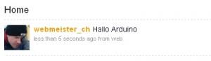 arduino-twitter-reader